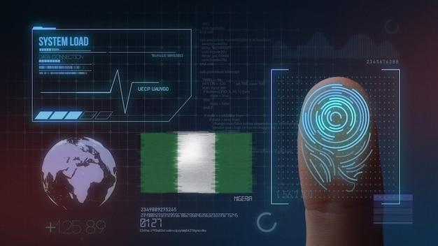 Finger print biometric scanning identification system. nigeria nationality