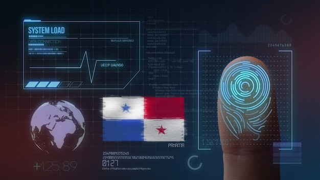 Finger print biometric scanning identification system. panama nationality