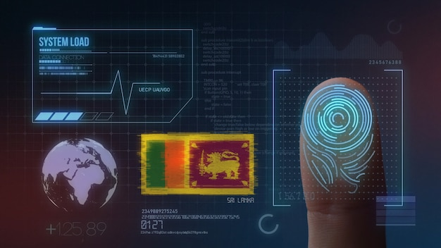 Finger print biometric scanning identification system. sri lanka nationality