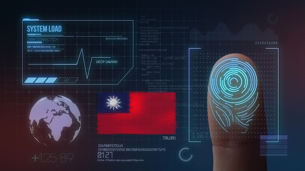 Finger print biometric scanning identification system. taiwan nationality