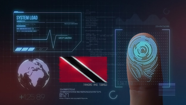Finger print biometric scanning identification system. trinidad and tobago nationality