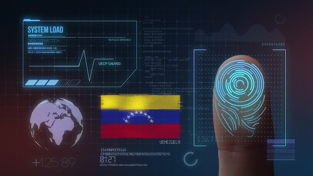 Finger print biometric scanning identification system. venezuela nationality