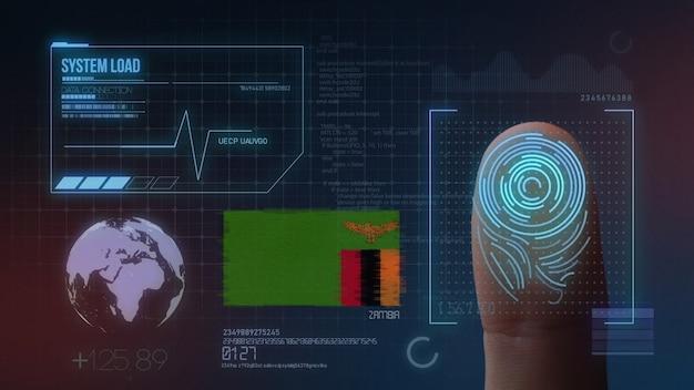 Finger print biometric scanning identification system. zambia nationality