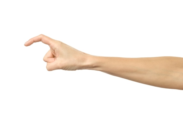 Finger reaching or scratching isolated