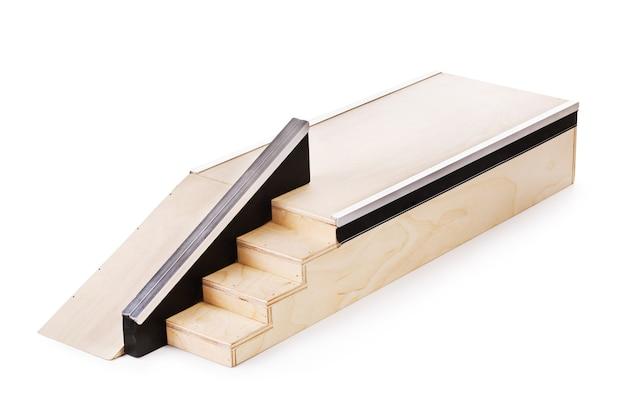 白い背景で隔離指板木製ランプ