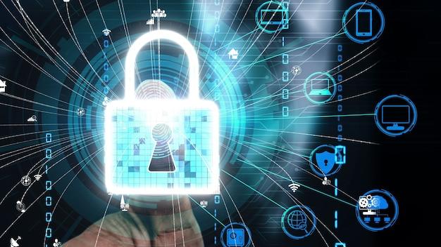 Fingerprint biometric digital scan technology conceptual