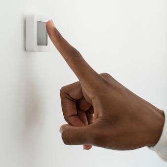 Fingerprint scan for smart home security system