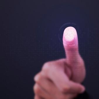 透明な画面上の指紋スキャナー