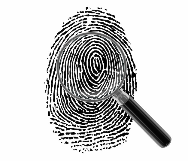 Fingerprint with loupe