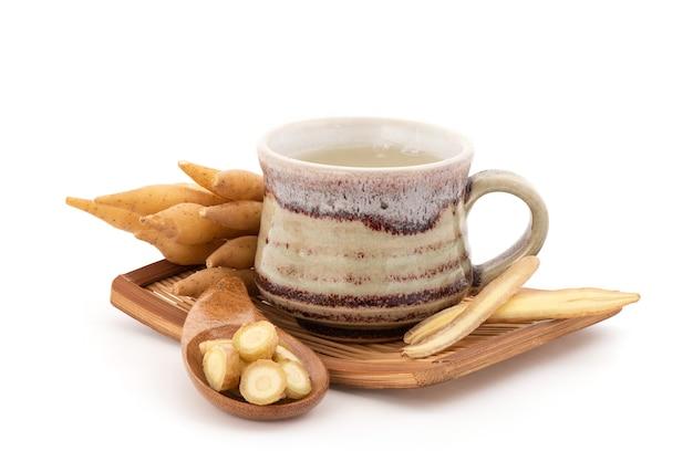 Fingerroot or galingale rhizome and juice isolated