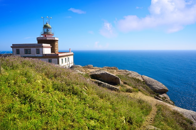 Finisterre lighthouse at the end of saint james spain