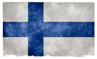 Finland grunge flag  grey
