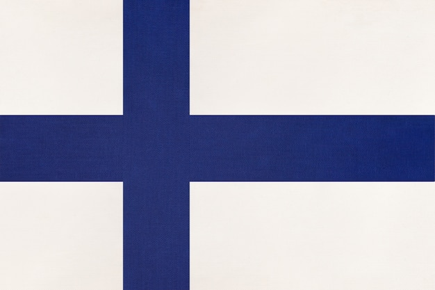 Finland national fabric flag