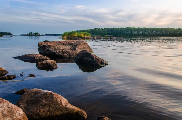 Finnish landscape on the lake