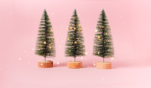 Fir tree christmas and new year