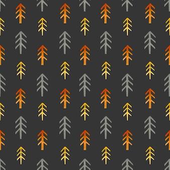 Fir tree watercolor seamless pattern in scandinavian style
