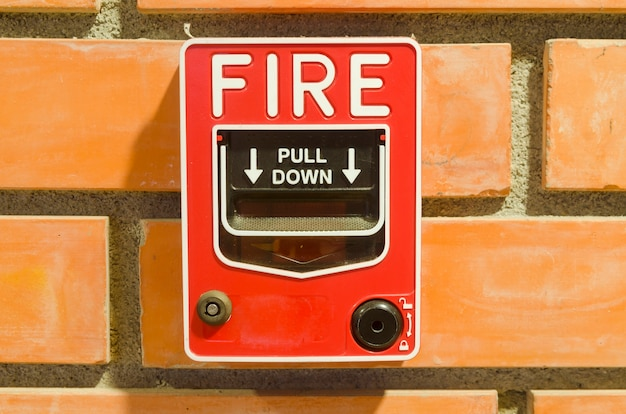 Fire alarm switch for the security system in the building.