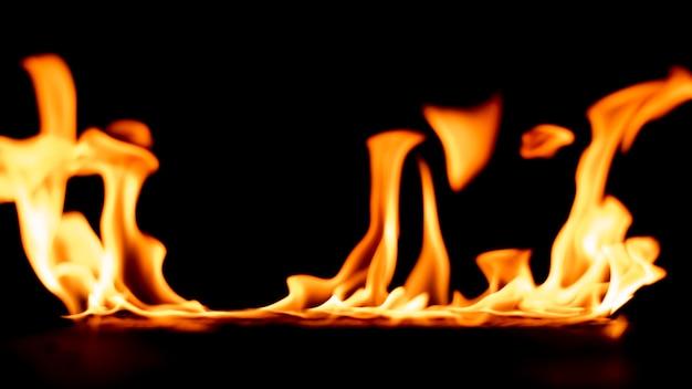 Fire on black.
