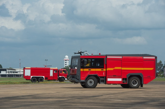 Fire brigade at the airport
