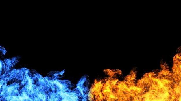 Огонь концепция дизайна на черном фоне