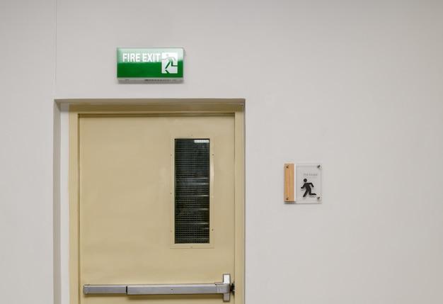 Fire exit steel door for evacuation in case of fire