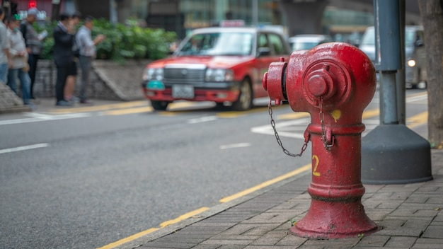 Fire hydrant connection point on street