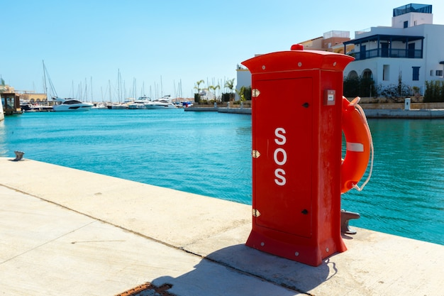 Fire hydrant. fire protection in the port.