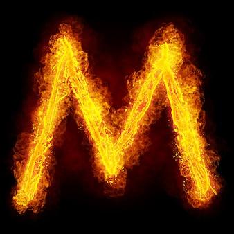 화재 편지 m. 불 같은 글꼴. 밝은 불꽃 글꼴 기호입니다.
