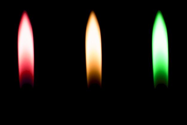 Fire lighter burn black isolated
