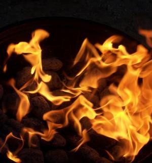 Fire pit, fire