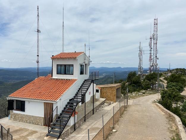 Fire protection outpost in pico del remedio valencia spain