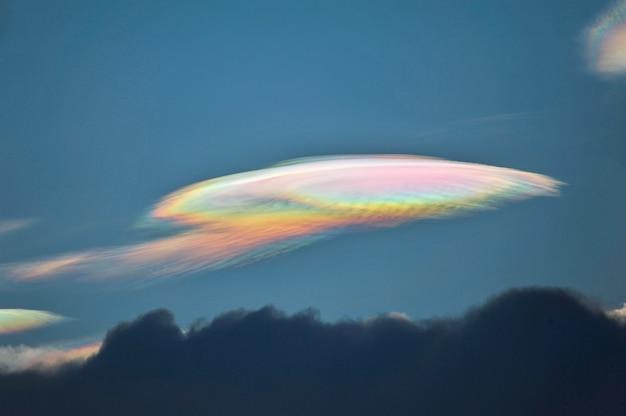 Fire rainbow cloud phenomenon is a natural phenomenon called irisation or iridescence.