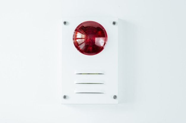 Fire safety system on a whate background