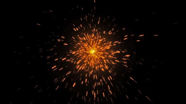 Огненные бенгальские огни на черном фоне