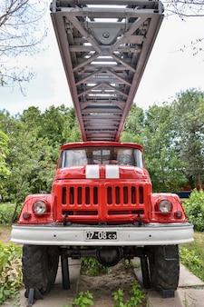 サラトフのビクトリーパークの消防車