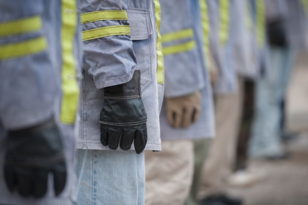 Firefighters suit and glove