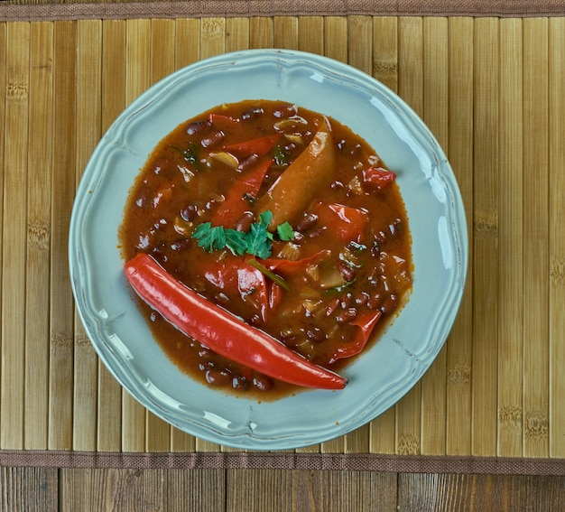 Firehouse chili  -winter recipe stew of beans