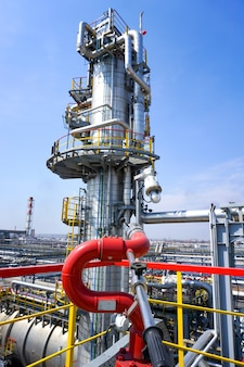 Fireplug to put out a fire installation at an oil refinery