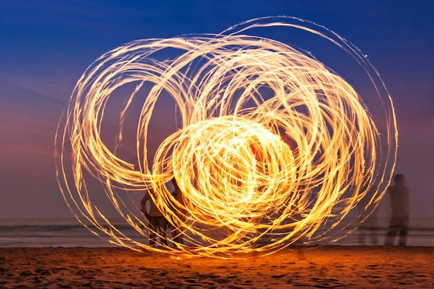 Fireshow at the beach