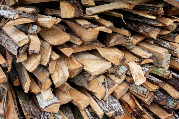 Firewood close-up picture