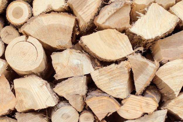 Firewood logs close-up