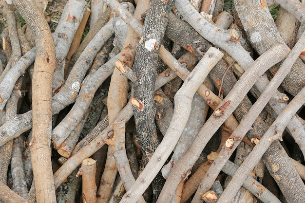 Firewood stick texture background.