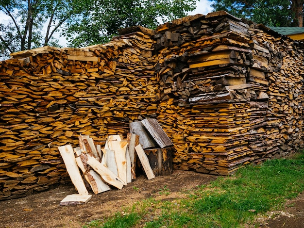 Firewood for the winter. wood for kindling wood stove