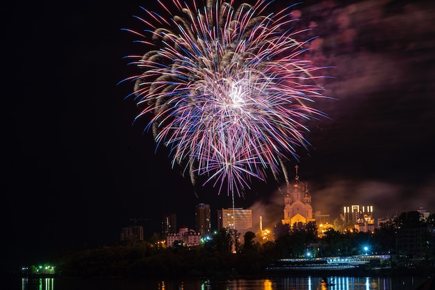 Firework concept in khabarovsk happy new year