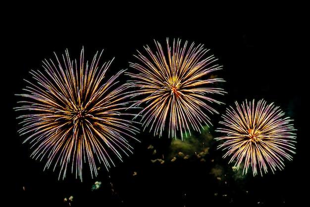 Firework display background for celebration anniversary