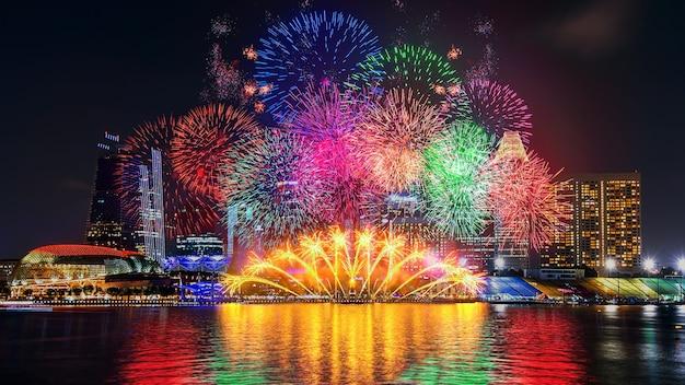 シンガポールの花火大会。