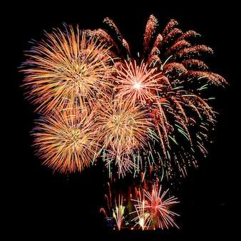 Fireworks celebration and the night sky.