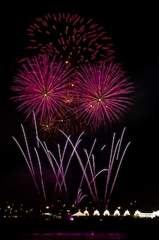 Fireworks at the night