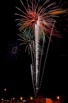 Fireworks in the night