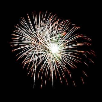 Фейерверк на ночном небе